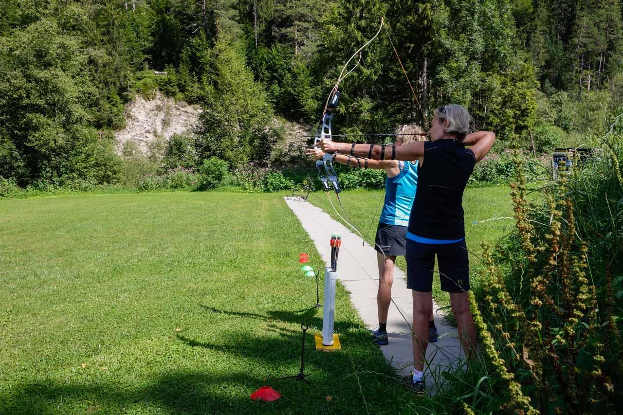 Langlaufschule Achensee Bogenbiathlon Laufen Biathlon mal anders Pertisau