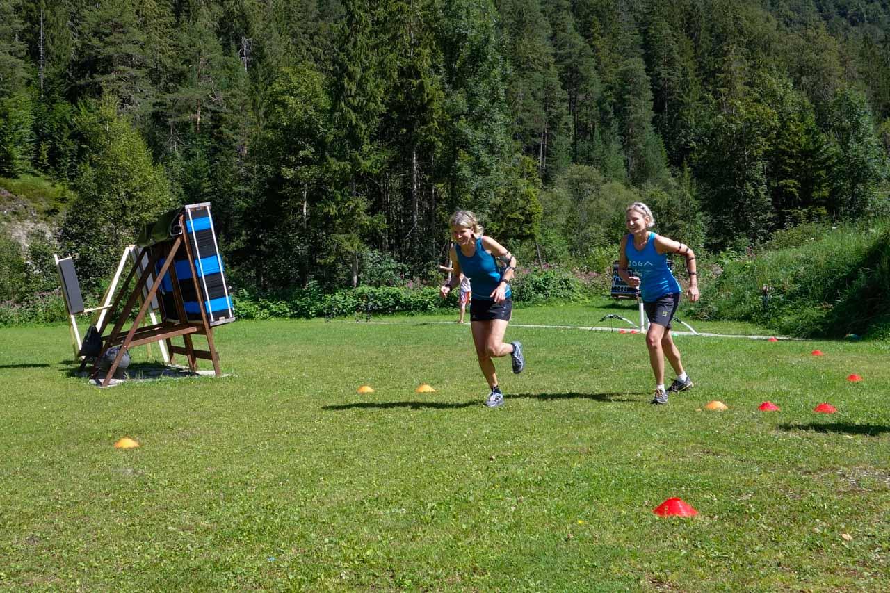 Langlaufschule Achensee Bogenbiathlon Laufen Kondition Start Pertisau