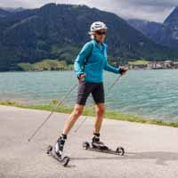 Langlaufschule Achensee Carina Skirollern Skating entlang des Achensees Pertisau Achenkirch